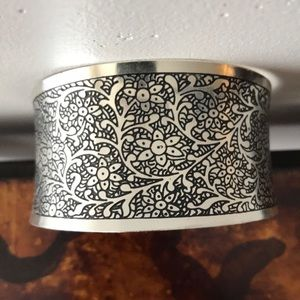 Silver Cuff Bracelet Helping Hands Community